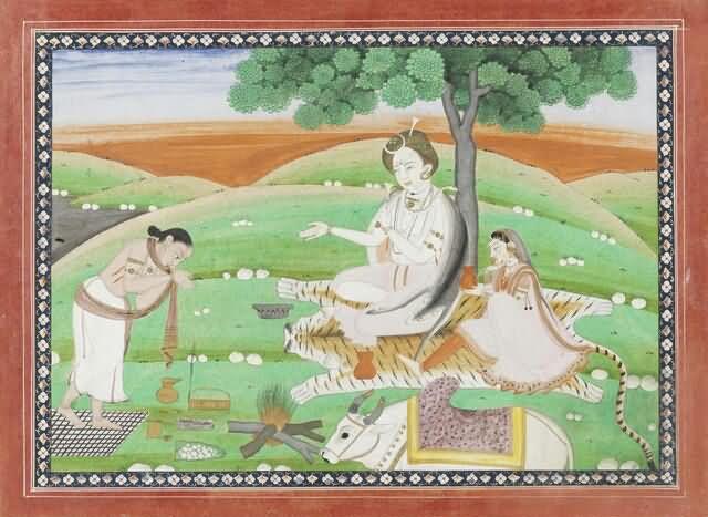 71-shiva-with-parvati-and-gandharva-pushpadanta